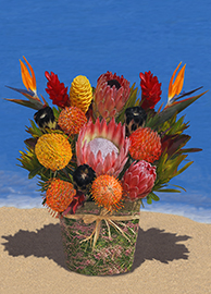 Large Anuenue Basket Arrangement