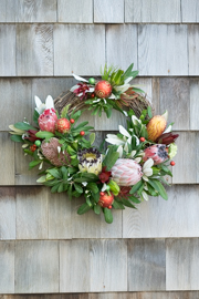 Partial Grapevine Wreath with Christmas Ornaments